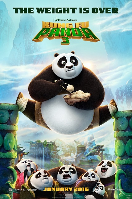 Kung Fu Panda 3 playing at the Towne