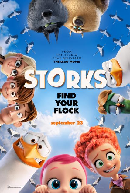 Storks playing at the Towne