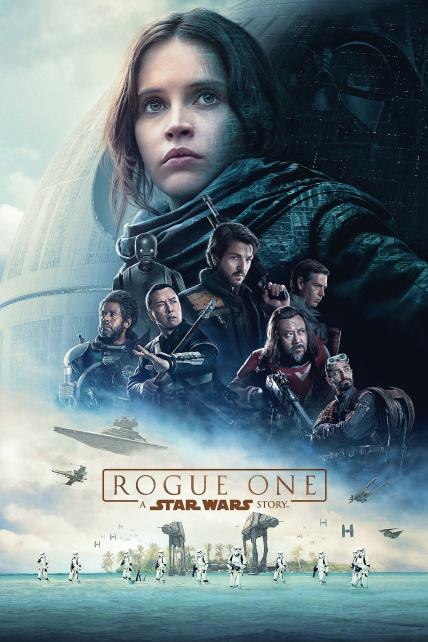 Rogue One: A Star Wars Story playing at the Basin Drive-In